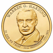 Moeda Estados Unidos 2014 1 Dolar Warren G Harding