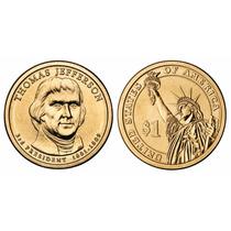 Moeda Estados Unidos 2007 1 Dolar Thomas Jefferson