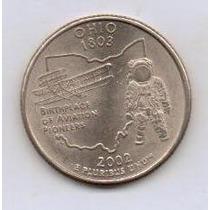 Linda Dos Usa Moeda Quarter Dollar 2002 P Ohio