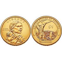 Moeda Estados Unidos 2015 1 Dollar American Sacagawea Fc