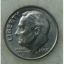 2160 - Usa One Dime Liberty 2008, Letra D - Tocha 18mm