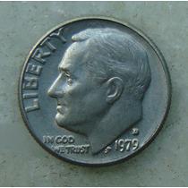 778 - Usa One Dime Liberty 1979, Letra D - Tocha 18mm