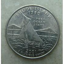288 Eua - Quarter Dollar 2001, Rhode Island - Comemorativa.