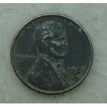 28 - Usa One Cent, Ano 1943, Letra S Letra19mm, Zinco Rara