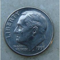 713 - Usa One Dime Liberty 1998, Letra D - Tocha 18mm