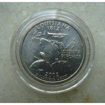 5435 Eua - Quarter Dollar 2002, Acrilico Fc, Louisiana
