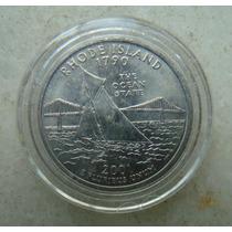 5437 Eua - Quarter Dollar 2001, Acrilico Fc, Rhode Island