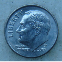 564 - Usa One Dime Liberty 2007, Letra P - Tocha 18mm