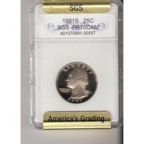 Moeda Estados Unidos - Quarter Dollar - Moeda Graduada !!!