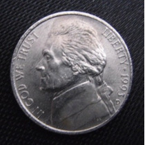 Moeda Coin Usa Five Cents 1993 (mbc) - Frete Grátis