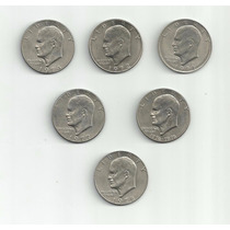 6 Moedas De Um Dollar Americano