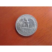 Moeda - Eua - Quarter Dollar - 24 Mm - 1966 - Prata - Sob