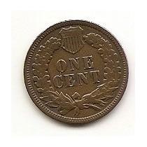 Usa, Moeda De 1 Cent, 1897, Cobre, Mbc - Indio -
