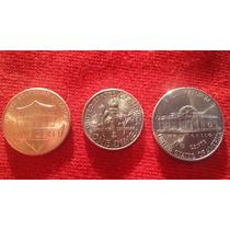 Moedas Cents Usa Diferentes One Dime One Cent E One Nickel