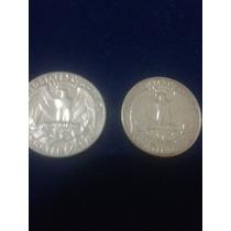 Moedas Americanas Super Raras Quarter Dollar Anos 1965-1985