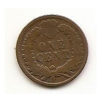 Usa, Moeda De 1 Cent, 1898, Cobre, Mbc - Indio -