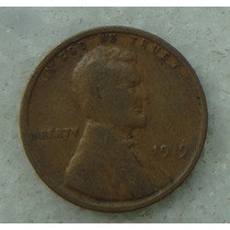 1870 - Usa One Cent, Ano 1919, Letra S 19 Mm - Ver Fotos