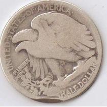 Moeda De Prata Estados Unidos Half Dollar 1920