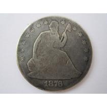 Usa Moeda Prata Half Dollar 1876