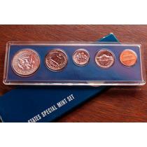 Conjunto Moedas Americanas 1967 Com Half Dollar Prata