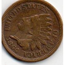 Moeda Indio One Cent Soberba 18_64