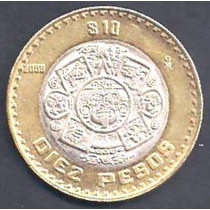 México - 1 0 Pesos 2001 - Bimetálica ------ =1809=