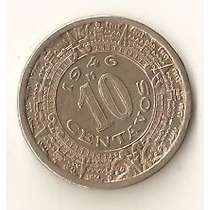 2120 - Mexico 10 Centavos 1946 - Sob Calendario Asteca