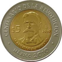 México - 5 Pesos 2010 (bimetálica) Madero