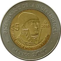 México - 5 Pesos 2010 (bimetálica) Morelos