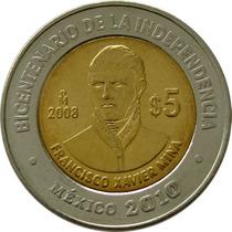 México - 5 Pesos 2008 (xavier Mina)