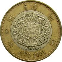 México - 10 Pesos 2001 (bimetálica)