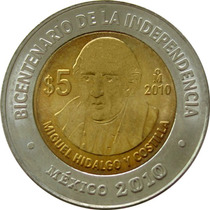 México - 5 Pesos 2010 (hidalgo)