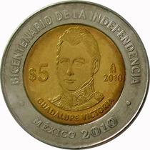 México - 5 Pesos 2010 (guadalupe Victoria)