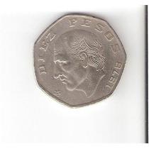 Moeda De 10 Pesos Mexicanos Usada