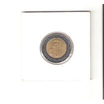 Linda Moeda Do México De 1 Peso De 1996 - Moeda Bimetálica !