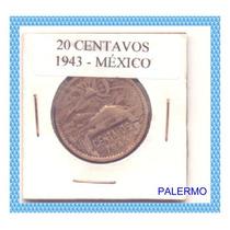 3052 - México - 20 Centavos 1943