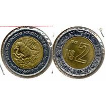 Moeda De 2 Pesos México Datas Variadas Década De 90