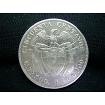 Rb2458 - Colômbia Moeda Prata 50 Centavos 1915/4 Rara