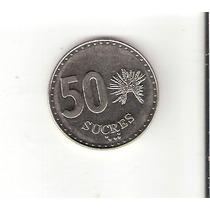 Linda Moeda Do Equador De 50 Sucres De 1988 - Vejam A Foto