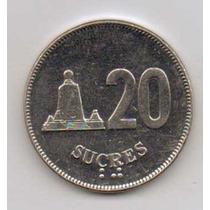 Linda Moeda Equador 20 Sucres 1988