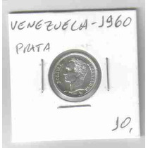 Ml-6658 Moeda Venezuela (50 Centimos) Prata 17mm 1960