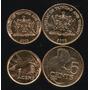 Lote 2 Moedas Trinidad & Tobago 1 5 Cents 2003 Fc