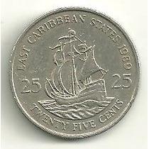 Caribe Estados Do Leste ( East ) - 25 Cents 1989