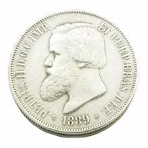 Moeda Em Prata De 2000 Réis Brasil Império 1889 0580