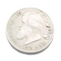 Moeda Em Prata De 1000 Réis Brasil Império 1876 0573