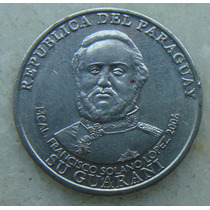 2500 Paraguai 1000 Guaranies 2008, Inox 24mm Solano Lopes