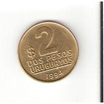 Linda Moeda Do Uruguai De 2 Pesos Uruguaios De 1994 !!!