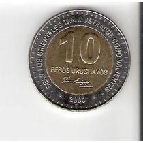 Lindíssima Moeda De 10 Pesos Uruguaios Fc - Vejam A Foto !!!