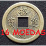 16 Moedas Chinesa Feng Shui Colar Sorte Fortuna Frete R$9,99