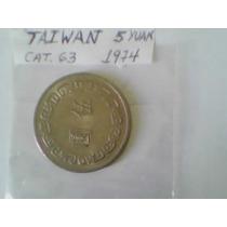 Taiwan - 5 Yuan - Cat# 63 - 1974 - Chiang Kay-shek - R$5,00